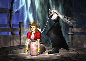 "FIGURE 3 1 - A SCREENCAP FROM ""FINAL FANTASY VII"" - A GAME WHICH IS FAMED FOR ITS EMOTION EVOKING NARRATIVE, DESPITE ITS LACK OF GRAPHICAL REALISM."