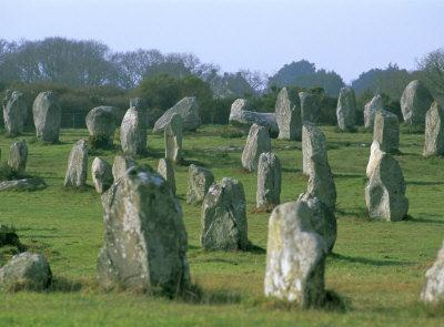 Stone Alignments at Carnac in Brittany